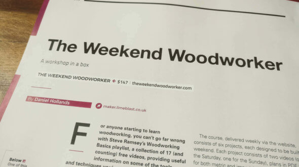 The Weekend Woodworker course review